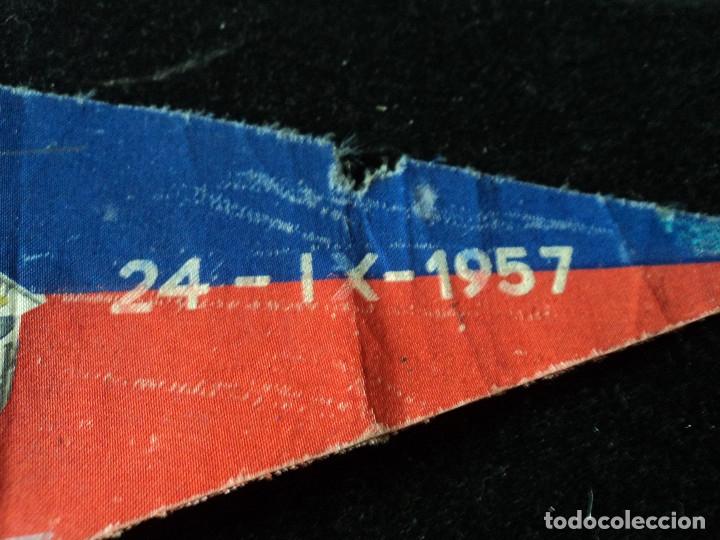 Banderines de colección: BANDERIN INAUGURACION DEL CAMP NOU 1957 27 X 14 CM - Foto 2 - 174478638