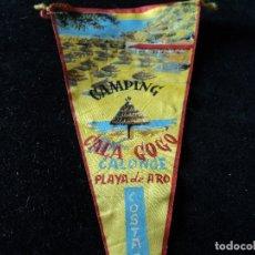 Galhardetes de coleção: ANTIGUO BANDERIN TELA CAMPING CALA GOGO PLAYA DE ARO 26 X 14 CM. Lote 174493445