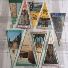 Banderines de colección: LOTE 9 BANDERINES DE LUGARES DE GALICIA - AÑOS 60'S. Lote 175087158