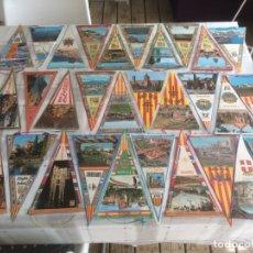 Banderines de colección: LOTE DE 31 BANDERINES DE LUGARES DE CATALUNYA - AÑOS 60'S. Lote 175087709