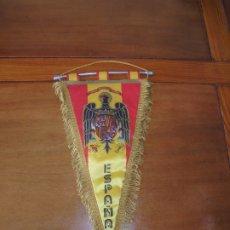 Galhardetes de coleção: ANTIGUO BANDERÍN BANDERA DE ESPAÑA CON AGUILA DE FRANCO ORIGINAL DE ÉPOCA. UNA, GRANDE, LIBRE.. Lote 208816857
