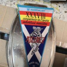 Banderines de colección: BANDERIN CAMPEONATO DE ESPAÑA DE AJEDREZ 1973 SANTA CRUZ DE TENERIFE . Lote 175547518