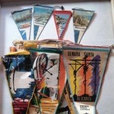 Banderines de colección: BANDERINES DE ALICANTE,ELCHE ,BENIDORM Y HONDÓN DE LAS NIEVES.. Lote 176028965