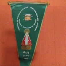 Banderines de colección: BANDERIN EUSKAL ERIKO TXISTULARIEN ALKARTASUNA / ARATE 24-VIII-1960. Lote 176203355