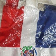 Banderines de colección: BANDERÍN BORDADO DE TELA CREO QUE DE COSTA RICA. Lote 176446539
