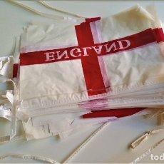 Banderines de colección: LOTE BANDRINES DE COLGAR DE PLASTICO ENGLAND. Lote 178275722