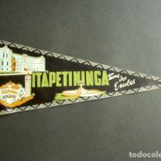 Banderines de colección: ANTIGUO BANDERÍN ITAPETININGA. TERRA DAS ESCOLAS. BRASIL. 52 X 18 CM . Lote 178683107
