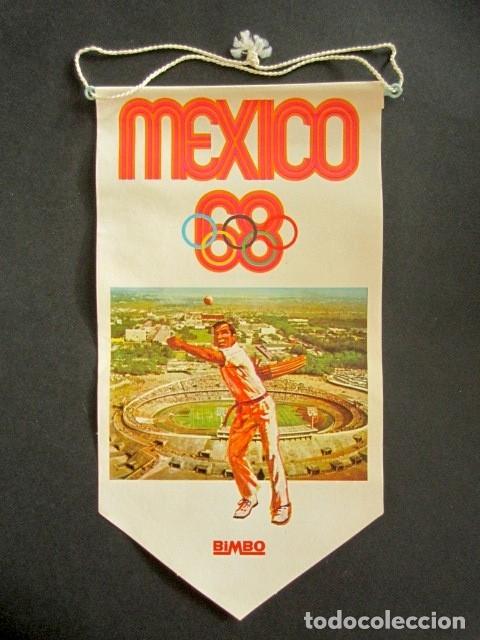 ANTIGUO BANDERÍN MÉXICO, 68. JUEGOS OLÍMPICOS, BIMBO. PELOTA VASCA. (Coleccionismo - Banderines)
