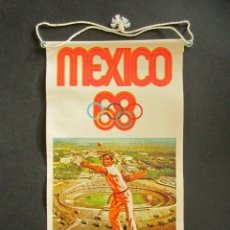 Banderines de colección: ANTIGUO BANDERÍN MÉXICO, 68. JUEGOS OLÍMPICOS, BIMBO. PELOTA VASCA. . Lote 178684970