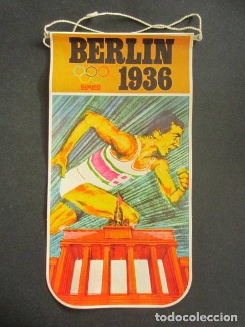 ANTIGUO BANDERÍN BERLÍN, 1936. JUEGOS OLÍMPICOS. BIMBO. (Coleccionismo - Banderines)