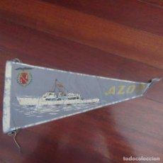 Banderines de colección: ANTIGUO BANDERIN FRANQUISTA AZOR BARCO FRANCO. Lote 178776146