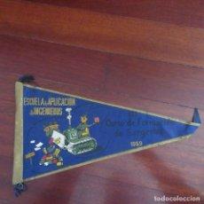 Banderines de colección: ANTIGUO BANDERIN FRANQUISTA MILITAR INGENIEROS. Lote 178776691