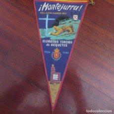 Banderines de colección: ANTIGUO BANDERIN FRANQUISTA CARLISTA REQUETE. Lote 178777187