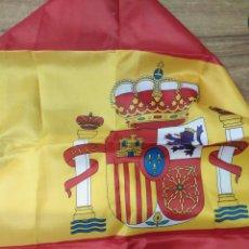 Banderines de colección: MFF.- BANDERA DE ESPAÑA CONSTITUCIONAL. DE 1 METRO POR 65 CMTOS.-. Lote 179071767