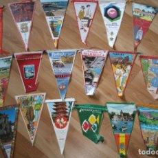 Banderines de colección: LOTE 43 BANDERINES ANTIGUOS. VALLE DE LOS CAIDOS, SAN FERMIN... AÑOS 60. Lote 179142400