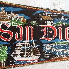 Banderines de colección: BANDERÍN VINTAGE SAN DIEGO CALIFORNIA USA SOUVENIR / PENNANT 80-90'S. Lote 181472525