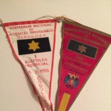 Banderines de colección: BANDERIN ALFERECES PROVISIONALES , FRANCO , 2 MODELOS. Lote 182318880