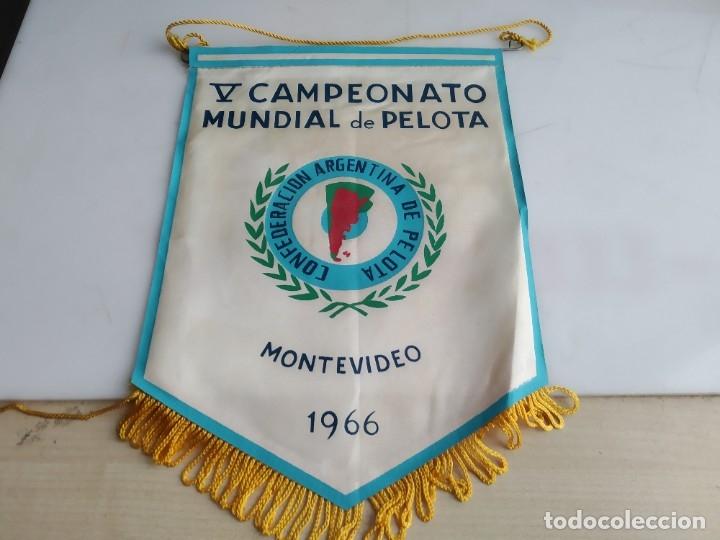 ANTIGUO BANDERIN CAMPEONATO MUNDIAL DE PELOTA MONTEVIDEO (Coleccionismo - Banderines)