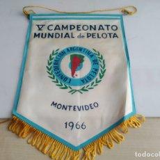 Banderines de colección: ANTIGUO BANDERIN CAMPEONATO MUNDIAL DE PELOTA MONTEVIDEO. Lote 183262605