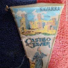 Banderines de colección: VIEJO BANDERIN DEL CASTILLO DE JAVIER NAVARRA. Lote 183914417