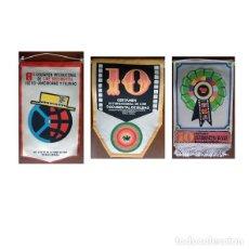 Banderines de colección: BANDERIN CERTAMEN INTERNACIONAL CINE DOCUMENTAL BILBAO DE 1966 Y 1968. 3 BANDERINES. Lote 185655253