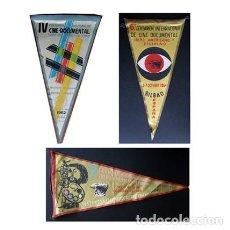 Banderines de colección: BANDERIN CERTAMEN INTERNACIONAL CINE DOCUMENTAL BILBAO DE 1962, 1964 Y 1965. 3 BANDERINES. Lote 185655306