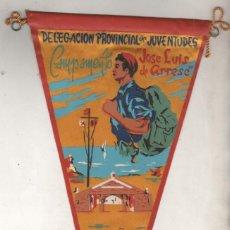 Banderines de colección: DELEGACIÓN PROVINCIAL DE JUVENTUDES. CAMPAMENTO JOSE LUIS DE ARRESE. LUGO. FET JONS MILITAR. Lote 185710470