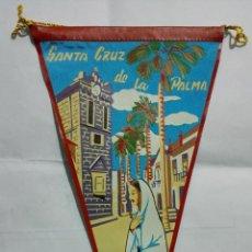 Banderines de colección: ANTIGUO BANDERIN, SANTA CRUZ DE LA PALMA, MEDIDA 29 CM. Lote 185899987
