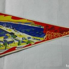 Banderines de colección: ANTIGUO BANDERIN, PUERTO DEL ROSARIO - FUERTEVENTURA, MEDIDA 28 CM. Lote 185900256