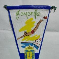 Banderines de colección: ANTIGUO BANDERIN, TENERIFE, MEDIDA 27 CM. Lote 185900321