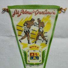 Banderines de colección: ANTIGUO BANDERIN, LAS PALMAS DE GRAN CANARIA, MEDIDA 27 CM. Lote 185900591