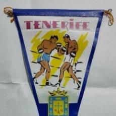 Banderines de colección: ANTIGUO BANDERIN, TENERIFE, MEDIDA 27 CM. Lote 185900643