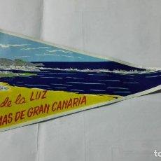 Banderines de colección: ANTIGUO BANDERIN, PUERTO DE LA LUZ - LAS PALMAS DE GRAN CANARIA, MEDIDA 29 CM. Lote 185900792