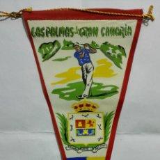 Banderines de colección: ANTIGUO BANDERIN, LAS PALMAS DE GRAN CANARIA, MEDIDA 27 CM. Lote 185900991