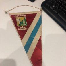 Banderines de colección: COLEGIO SAN MIGUEL. Lote 186253435