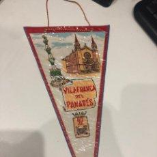 Banderines de colección: VILAFRANCA DEL PANADES. Lote 186259305