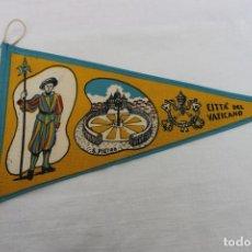 Banderines de colección: BANDERIN CIUDAD DEL VATICANO AÑOS 50-60, CITTA DEL VATICANO. Lote 186294912