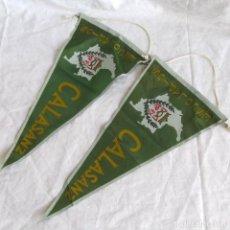 Banderines de colección: 2 BANDERINES ESCOLAPIOS DE CALASANZ. Lote 188639341