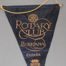 Galhardetes de coleção: BANDERIN ROTARY CLUB DE BURRIANA - ESPAÑA. Lote 188812893