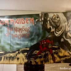 Fanions de collection: BANDERA IRON MAIDEN 150X90 CM EDDIE THE HEAD THE NUMBER OF THE BEAST. BRUCE DICKINSON. HEAVY METAL. Lote 190162192