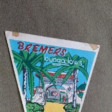 Banderines de colección: BANDERÍN BOCETO ORIGINAL PINTADO A MANO - BREMERS - BUNGALOWS - DENIA. Lote 190756412