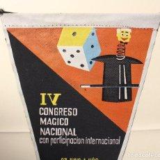 Banderines de colección: EXCELENTE BANDERIN. IV CONGRESO MAGICO NACIONAL. ZARAGOZA AÑO 1962. VER FOTOS. MAGIA.. Lote 191397576