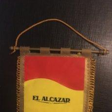 Banderines de colección: BANDERÍN CENA HOMENAJE A ANTONIO IZQUIERDO.EL ALCÁZAR. Lote 191622358
