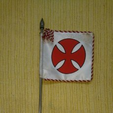 Banderines de colección: BANDERA CRUZ ROJA TEMPLARIA. Lote 191654167