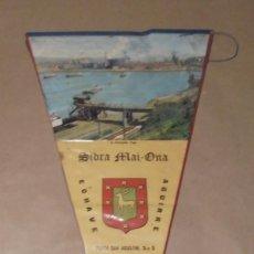Banderines de colección: BANDERÍN SIDRA MAHI-ONA - ECHAVE AGUIRRE - ERANDIO - 1968. Lote 191659288