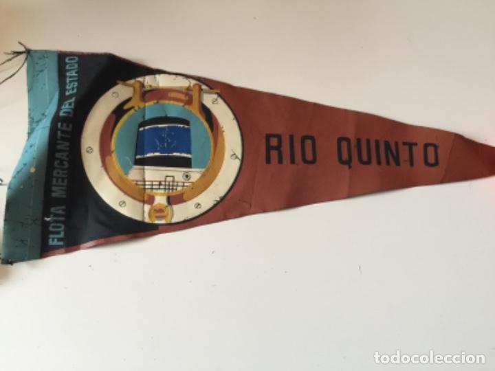BANDERIN GRANDE , FLOTA MERCANTE DEL ESTADO ,BARCO RIO QUINTO , AÑOS 60 (Coleccionismo - Banderines)