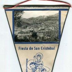 Banderines de colección: HERBES - COMARCA DELS PORTS - (CASTELLON) BANDERIN PLASTIFICADO FIESTA DE SAN CRISTOBAL AÑO 1978. Lote 192310522