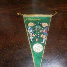Banderines de colección: BANDERÍN FELICITACIÓN NAVIDEÑA FÚTBOL BARCELONA ESPAÑOL. Lote 256060290