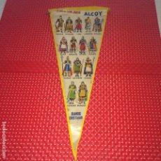 Banderines de colección: ALCOY ( ALICANTE ) - FIESTAS DE SAN JORGE - AÑOS 60 - ANTIGUO BANDERÍN - BANDO CRISTIANO. Lote 194201683
