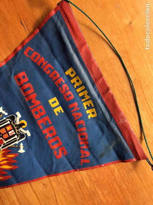 Banderines de colección: Banderín primer concreso nacional de Bomberos Madrid noviembre 1959 - Foto 4 - 194222311